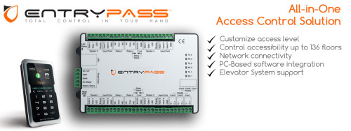 Banner for EntryPass All-in-One Access Control Solution