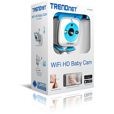 TRENDnet TV-IP745SIC Wireless HD Baby Cam - Box